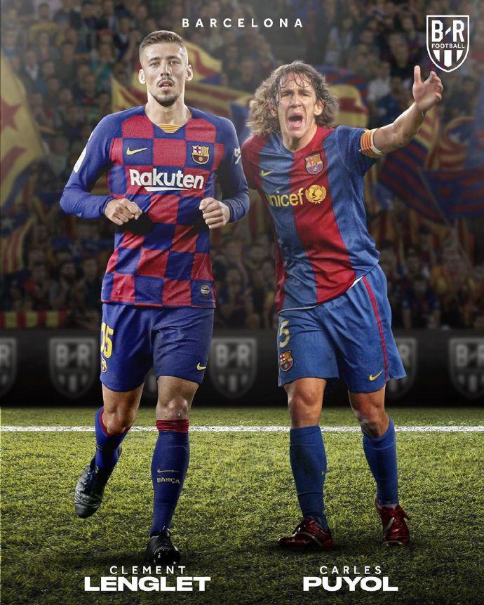 B/R海报:球队现在的中后卫与球队传奇中后卫搭档