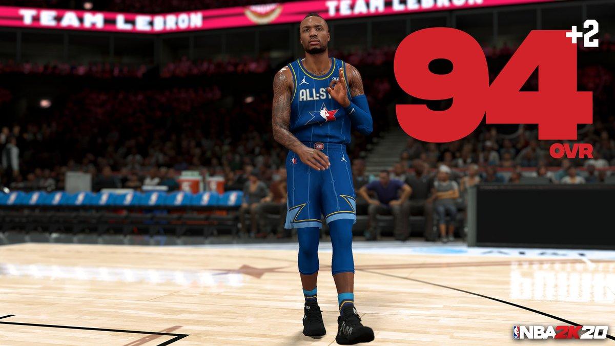 NBA2K更新部分球员能力值:利拉德94、蔡恩84