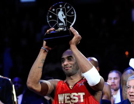"""NBA全明星正赛MVP奖项被命名为""""科比"""