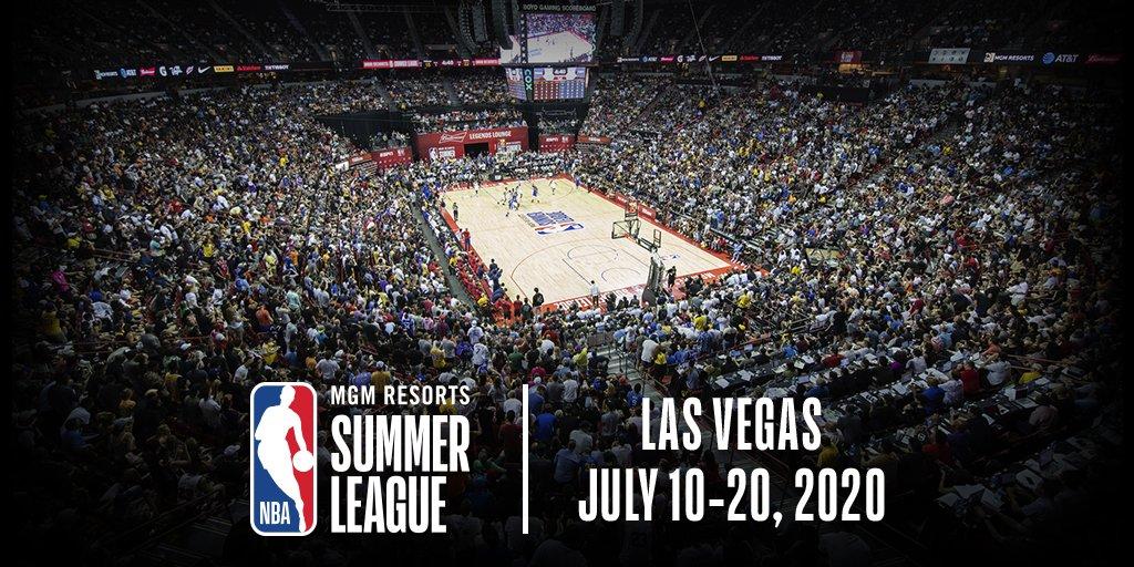 2020年夏季联赛将于7月10日至20日在拉斯维加斯举行