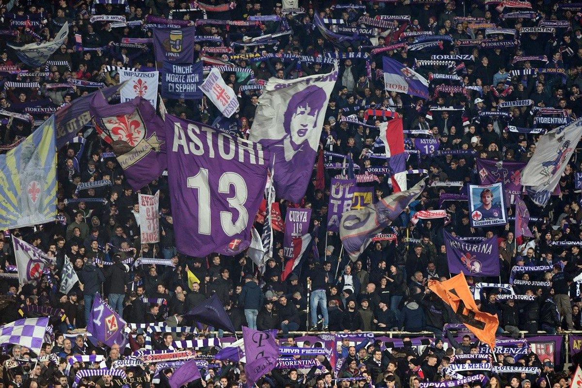 想你!佛罗伦萨vs米兰第13分钟,紫百合球迷纪念阿斯托里