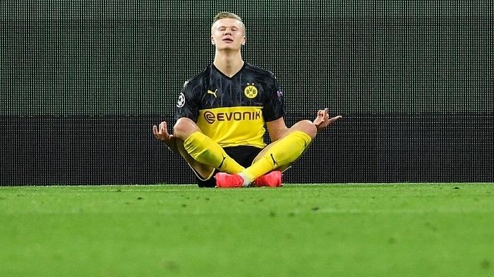 就这?哈兰德只用了六场比赛,就进入德甲射手榜前十