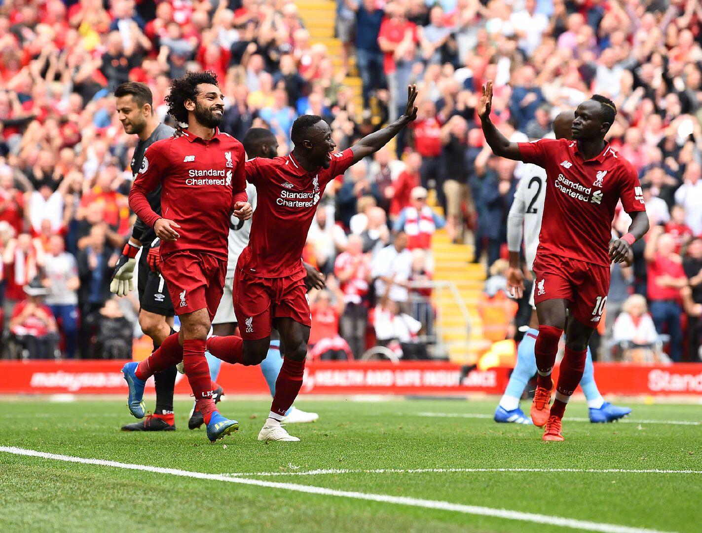 稳吗?利物浦近6次联赛对西汉姆5胜1平,进19球丢3球