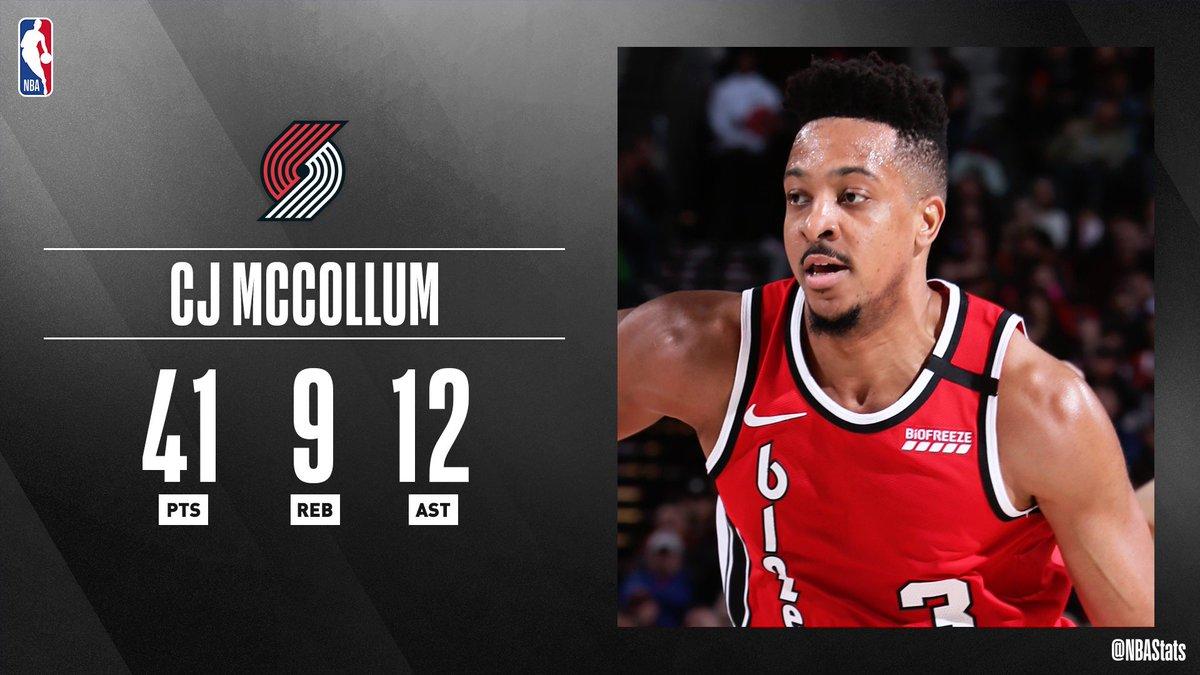 NBA官方评选最佳数据:麦科勒姆41分9篮板12助攻当选