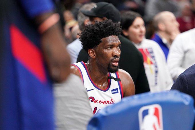 恩比德职业生涯迄今七次得到40分10篮板,队史第四位