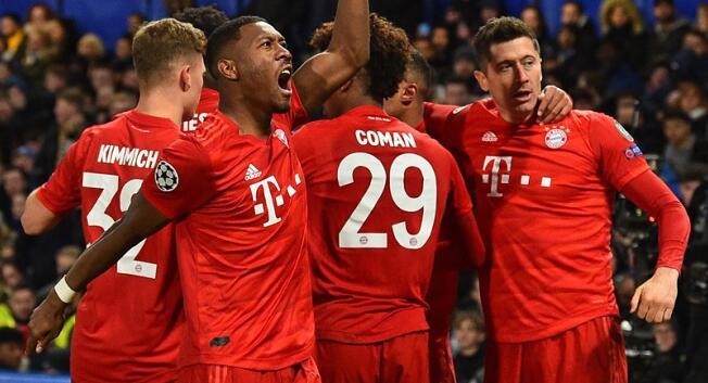 格纳布里双响莱万2传1射,拜仁客场3-0切尔西