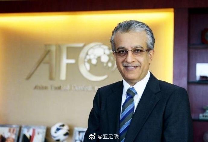亚足联主席萨尔曼向所有受新冠病毒影响的地区表示支持