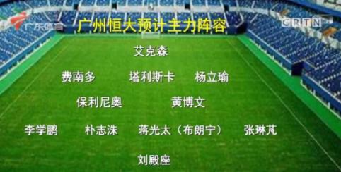 广体展望恒大新赛季主力阵容:3表援 3归化,无韦世豪