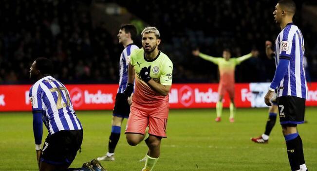 足总杯:阿圭罗制胜球奥塔门迪中框,曼城1-0谢周三晋级