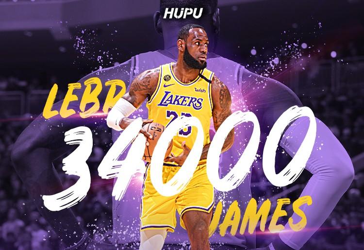 35岁67天!詹姆斯成为NBA史上最年轻的34000分先生