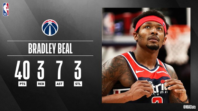 NBA官方评选最佳数据:比尔40分3板7助攻3断当选