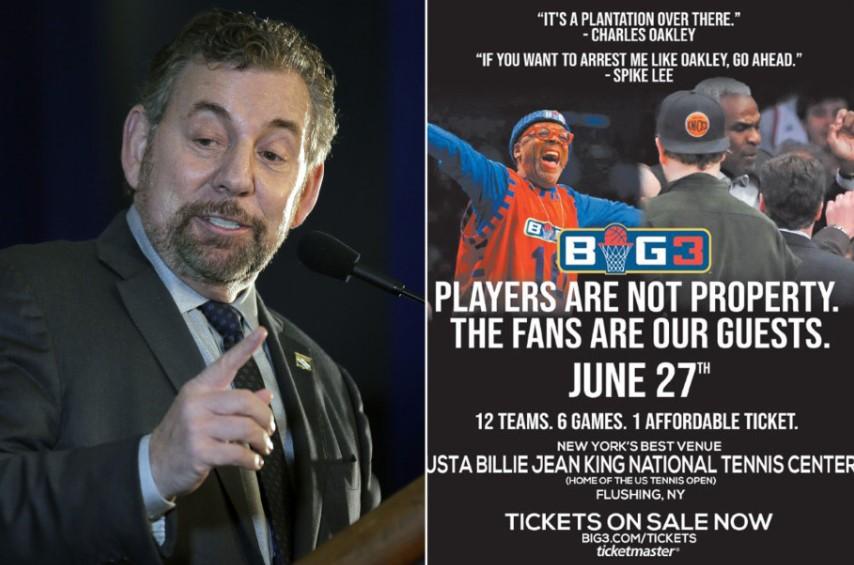 BIG3新海报批评尼克斯不重视球员和球迷:球迷是我们的客人
