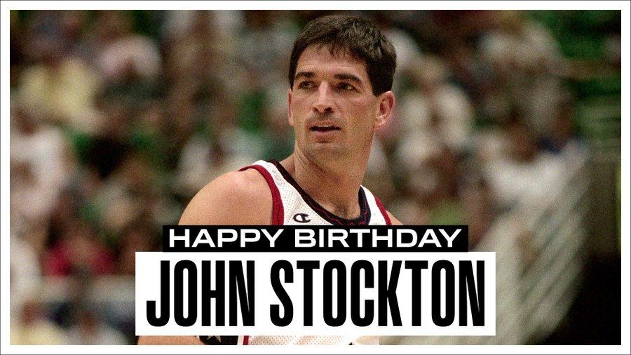 NBA祝历史抢断王及助攻王约翰-斯托克顿生日快乐