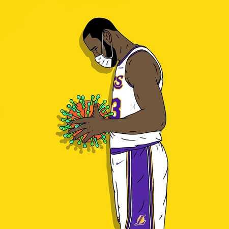 艺术家晒詹姆斯反抗疫情漫画作品:我们想念NBA