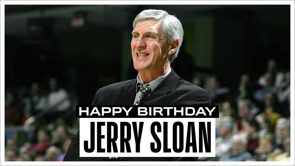 NBA官方祝爵士传奇教练杰里-斯隆78岁生日快乐