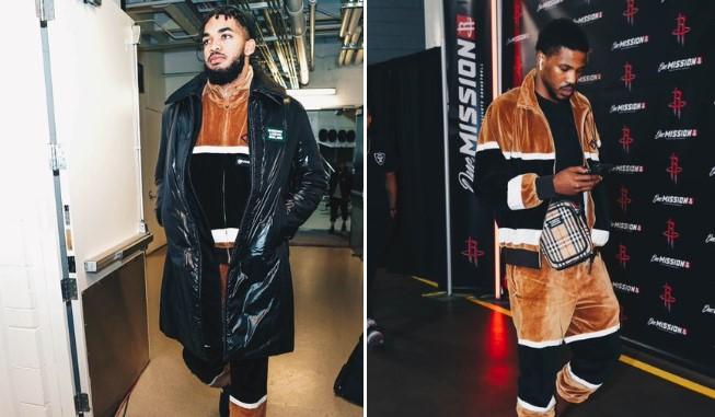 森林狼官方晒唐斯与比斯利套装:同一套衣服,不同的感觉