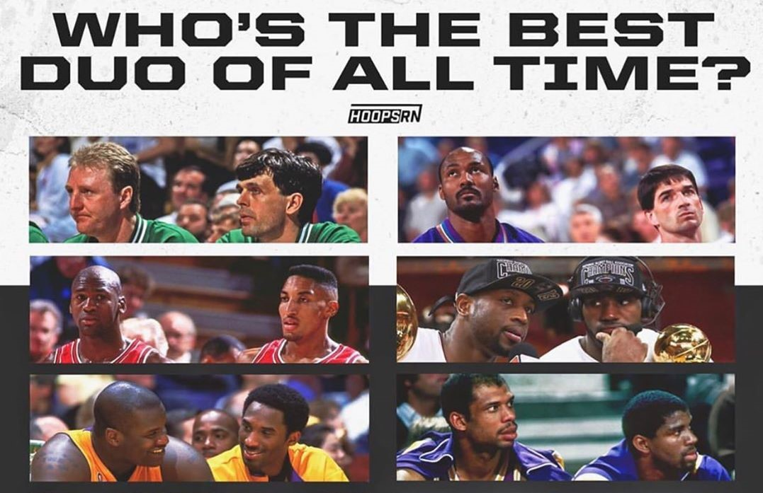 奥尼尔Ins晒图:谁是史上最佳二人组?我的答案你们知道