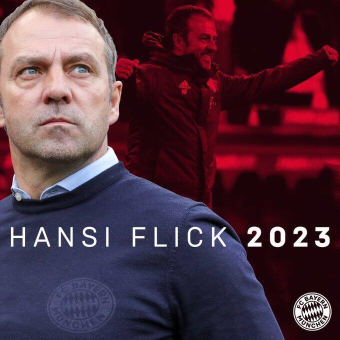 官方:弗里克和拜仁续约至2023年