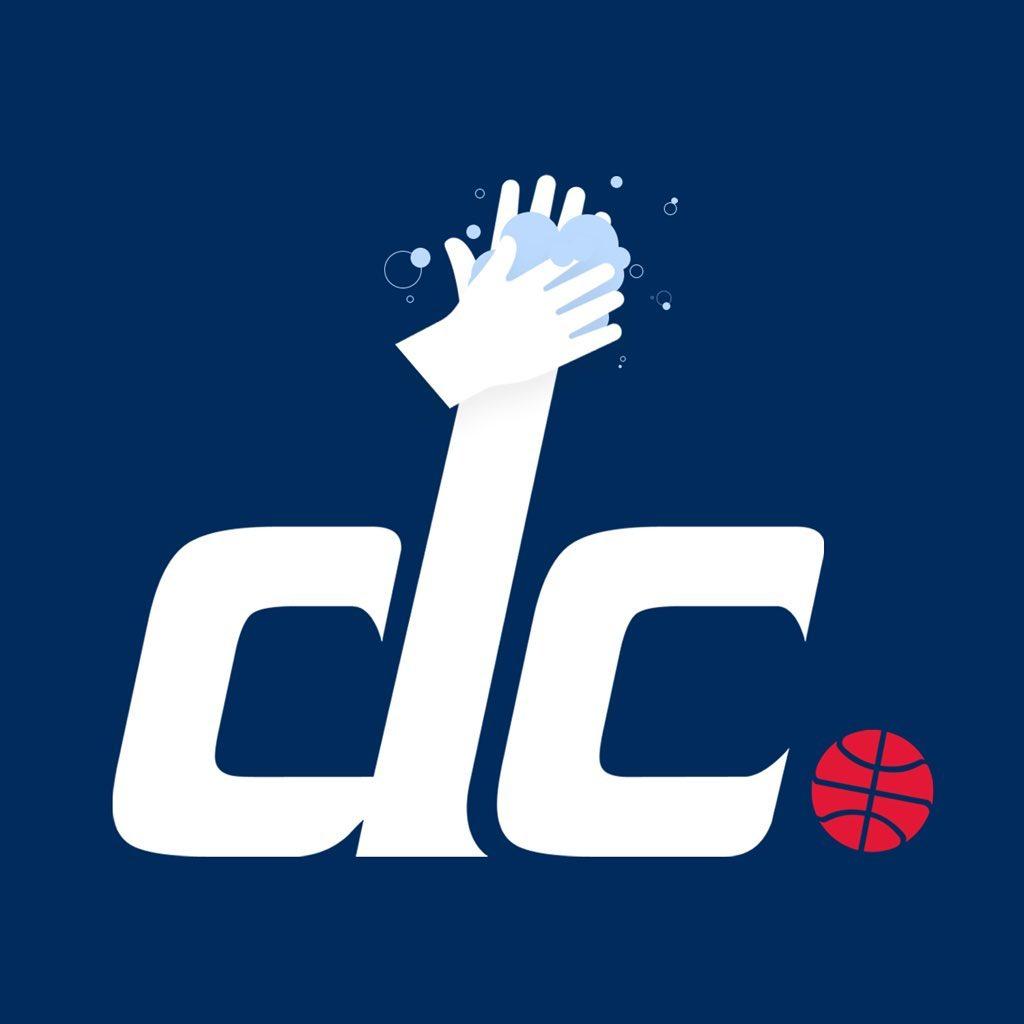 奇才队发布新增洗手元素的球队logo图片宣传抗疫