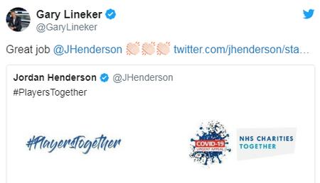 莱因克尔谈球员立抗疫基金:为球员们自满,亨德森好样的