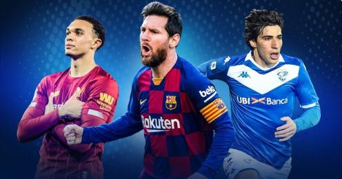 五大联赛角球助攻排行:柏林联后卫第一,阿诺德梅西二三