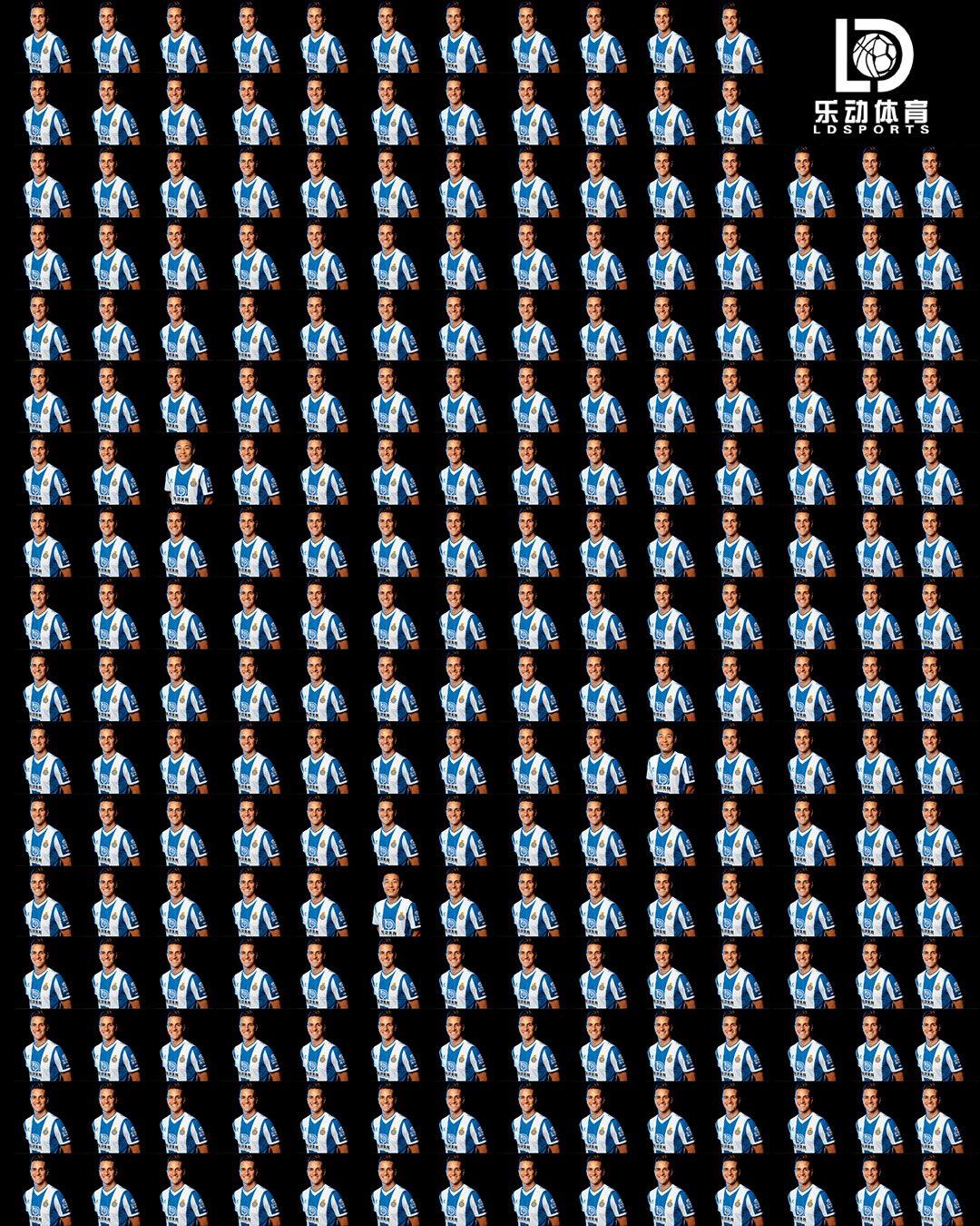 西班牙人官推发232人物图发问,你能在5秒内找到武磊吗?