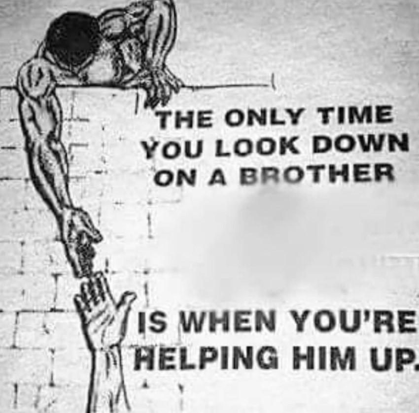 莫兰特转发励志言论:俯视兄弟之时,即是伸出援手之时