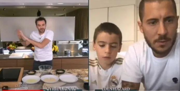 阿扎尔参加电视烹饪节目,被儿子diss:你明明啥都不会