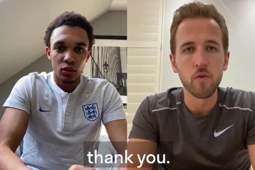 凯恩、阿诺德同英格兰女足队员,录制视频向NHS表示感谢