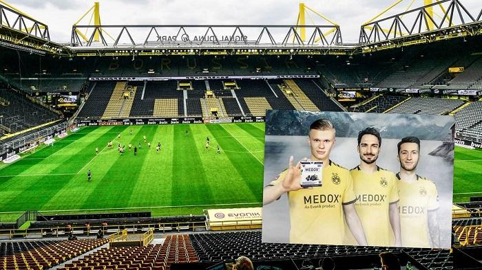 德媒:多特与拜仁比赛时胸前广告将换成营养品