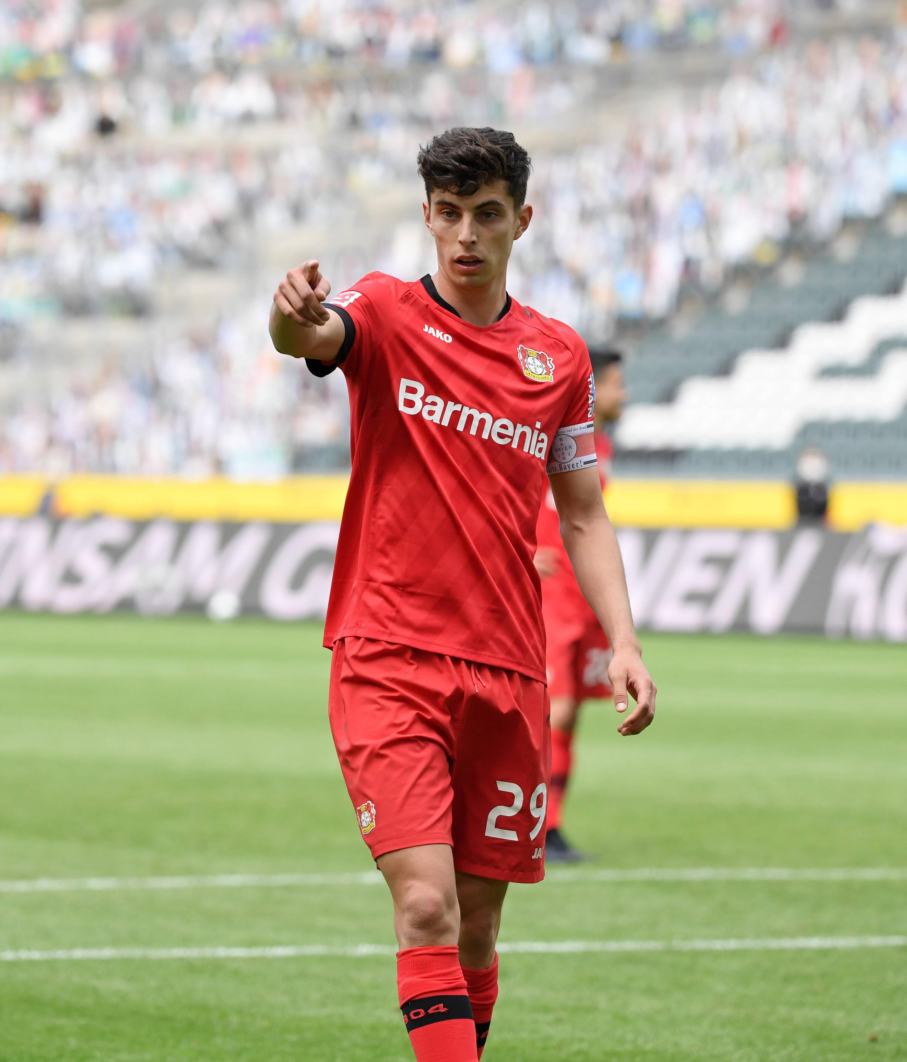 已进35球,哈弗茨成德甲21岁前进球最多的球员