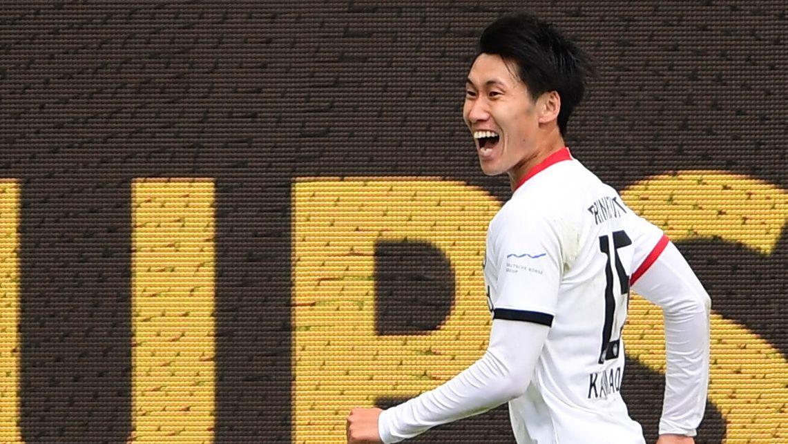 神勇!镰田大地成五大联赛亚洲球员中第二位进球上双者