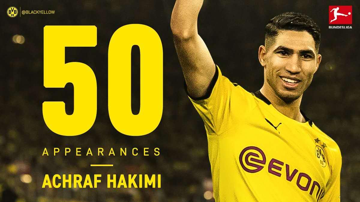 从边卫到边锋?阿什拉夫生涯50场德甲直接参与21球  足球话题区