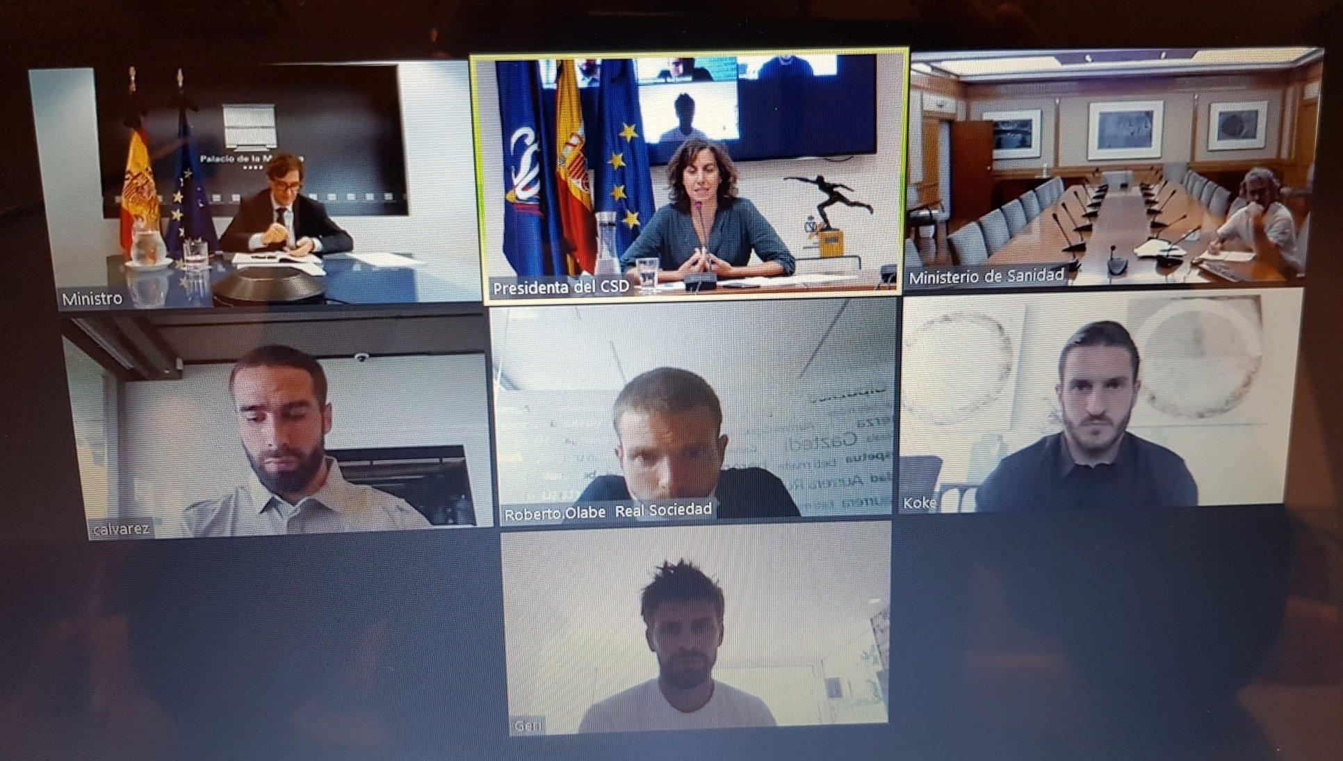 西班牙政府会见皮克等4位西甲队长,感谢球员们的责任感