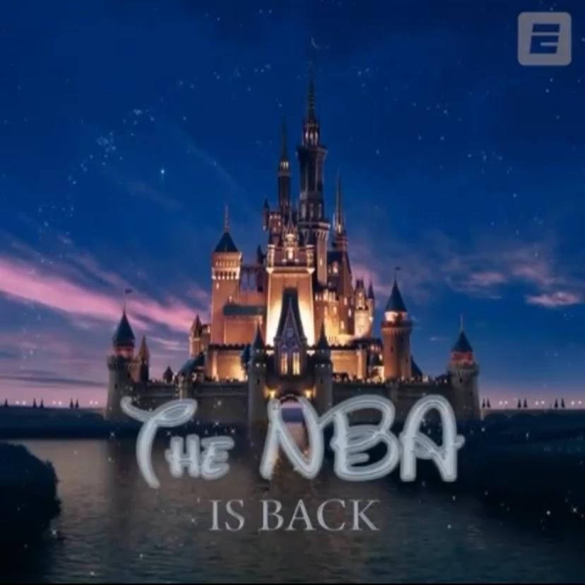NBA回来了!ESPN制作NBA版迪士尼经典片头:欢迎回归