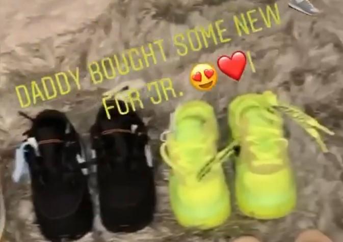 父爱满满!施罗德妻子晒施罗德为儿子买的新球鞋