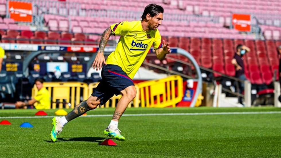 官方:梅西今天已恢复训练,但只能与塞梅多一起做个人训练