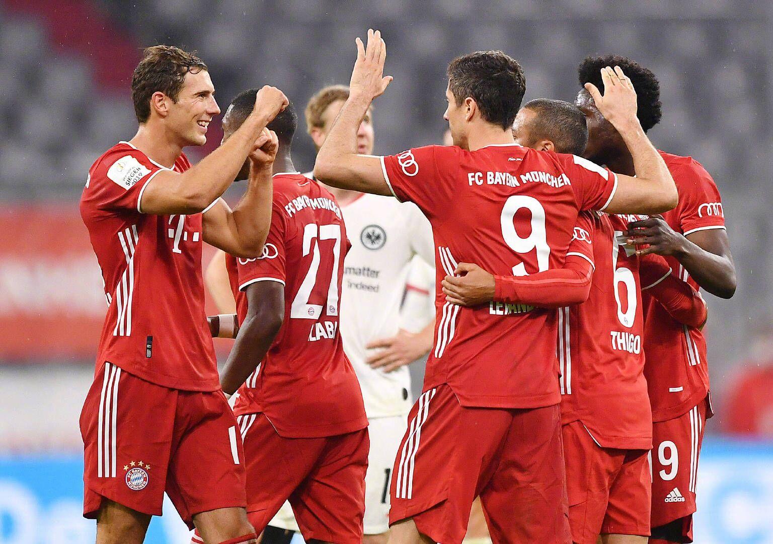 德国杯:佩里西奇莱万建功,拜仁2-1法兰克福晋级决赛