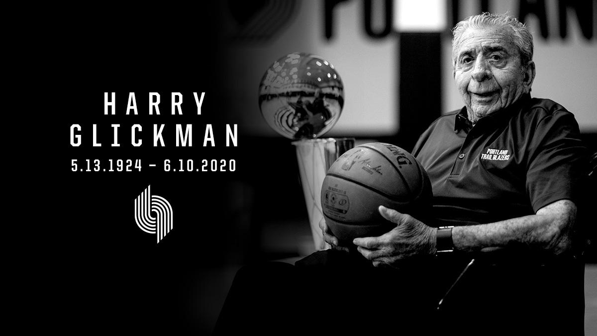 开拓者球队创起人之一Harry Glickman往逝,享年96岁
