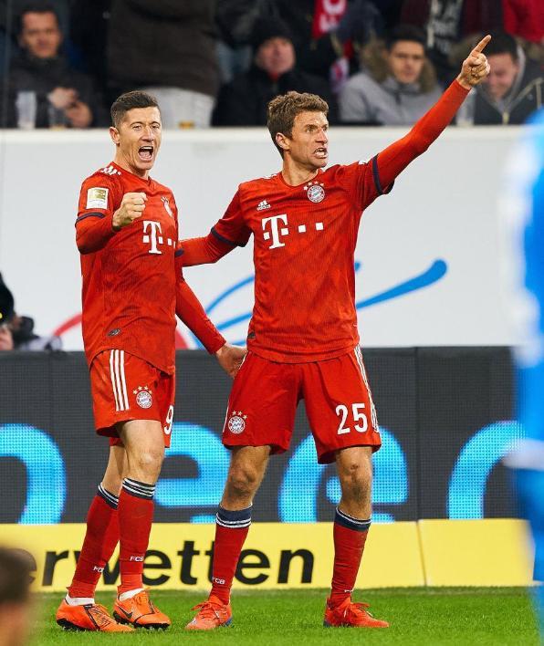 图片报:莱万穆勒同时缺席的比赛只有3场,拜仁输了1场