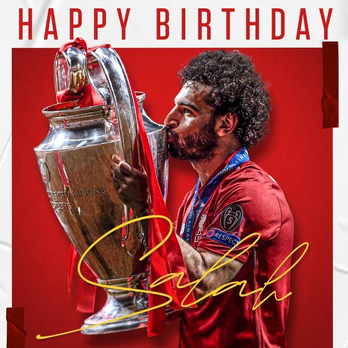 埃及法老迎28岁生日,利物浦官方祝萨拉赫生日快乐