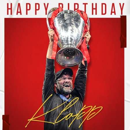 渣叔生快!克洛普53岁生日,利物浦官方为其庆生