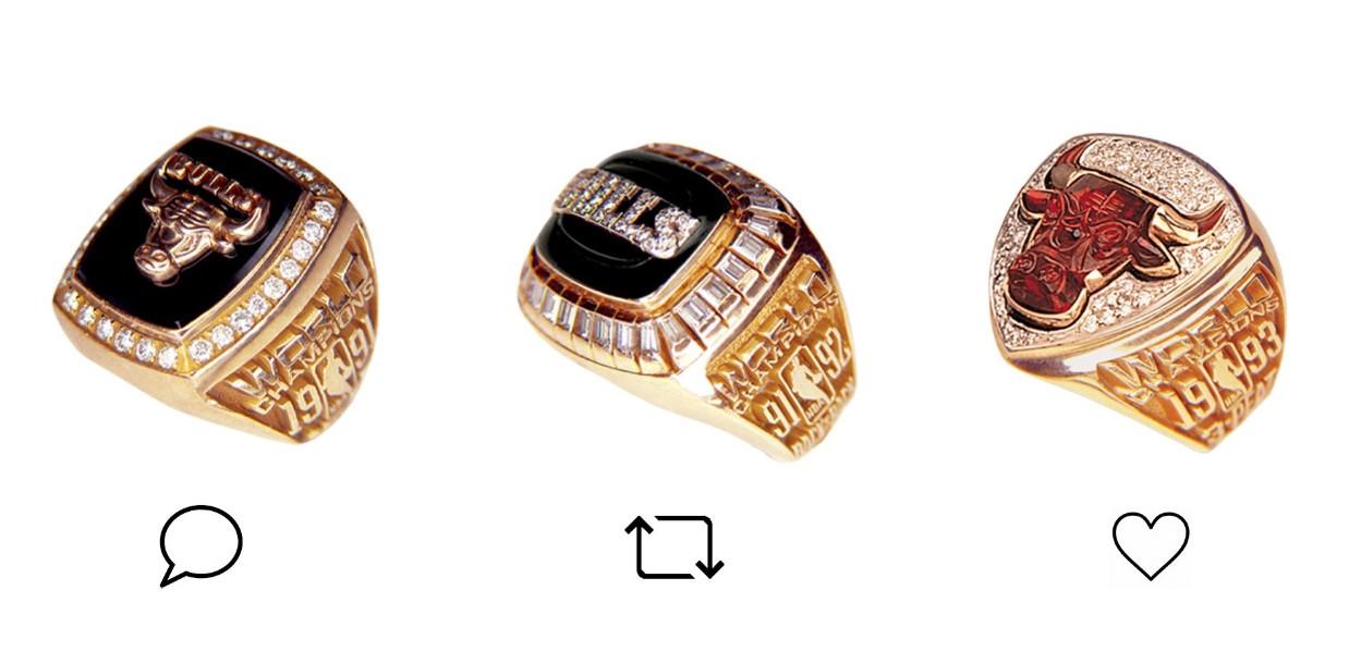 公牛官推晒冠军戒指:让我们看看谁最有品位