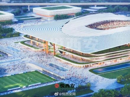 西安国际足球中央成绩图出炉,融入周秦与汉唐元素