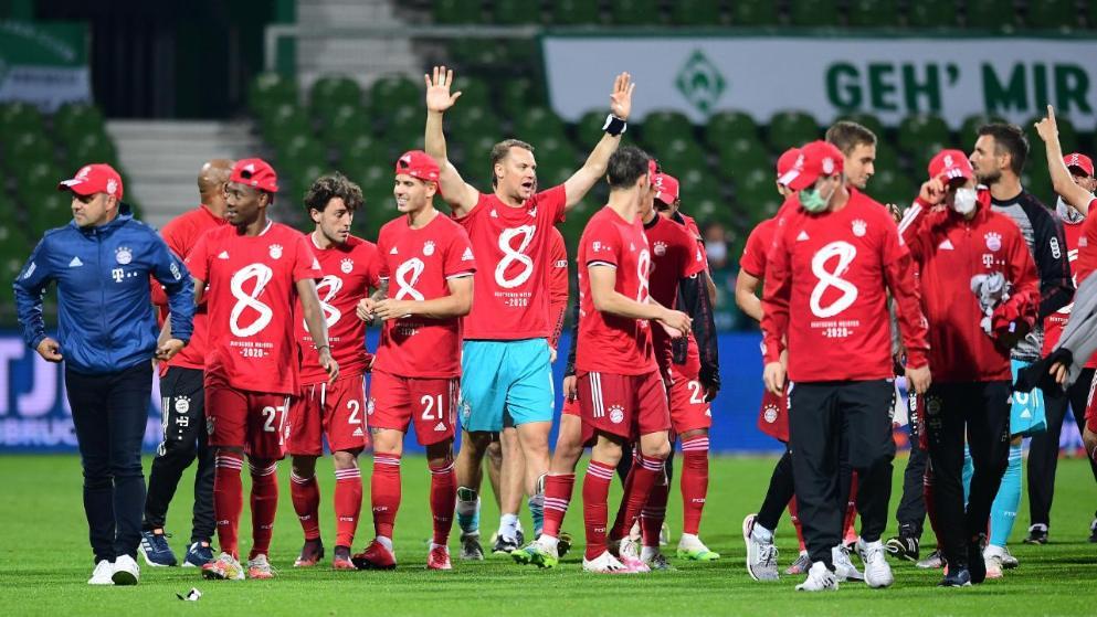 图片报:拜仁周末将举办夺冠派对,疫情原因只有球员参加