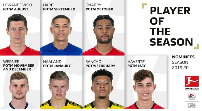 选谁呢?德甲赛季最佳球员候选:莱万桑乔哈弗茨维尔纳竞争