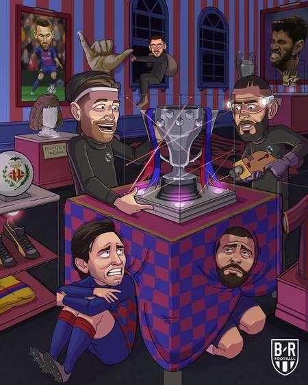 B/R海报:皇马登顶西甲,向着联赛冠军奖杯提倡冲刺