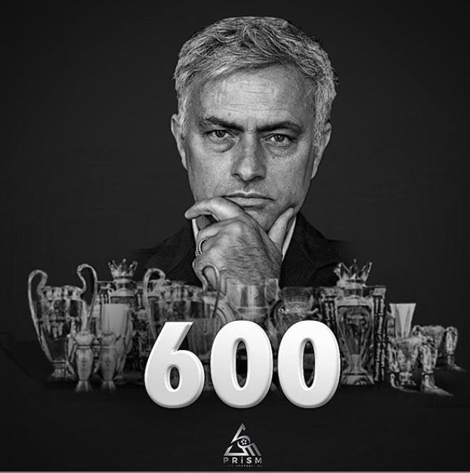 执教生涯600胜执教英超球队300胜,穆帅更新动态庆祝里程碑