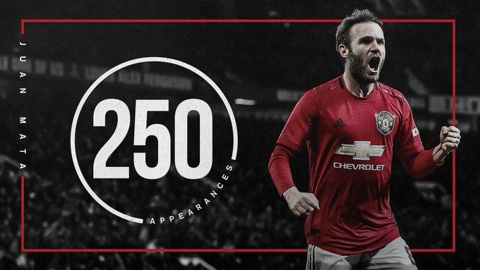 红魔生涯250场,马塔更新动态庆祝完成里程碑