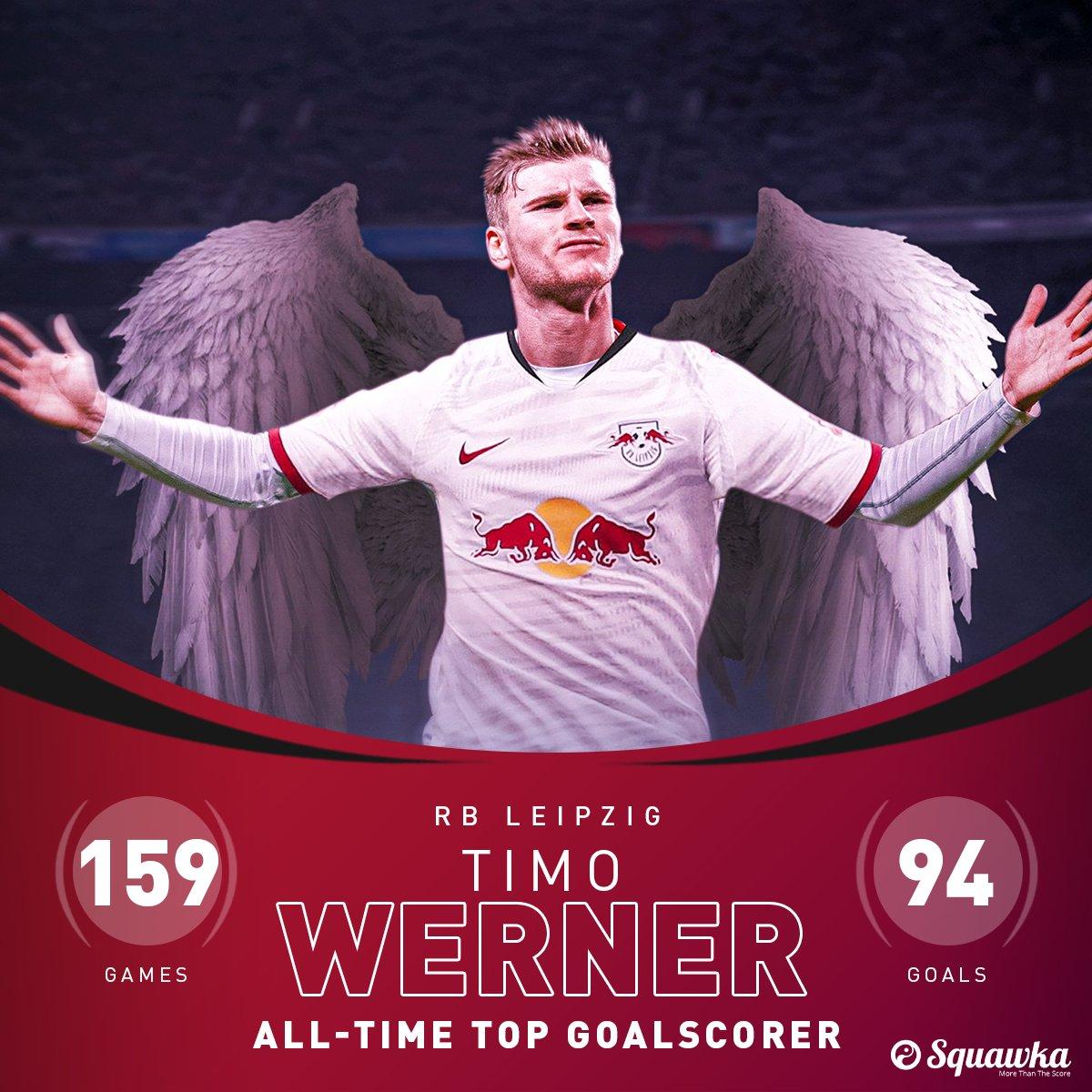 94!维尔纳为莱比锡打入94球,成俱笑部德甲历史最佳射手